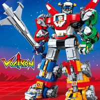 SY 1130 Voltron Robot King Robot Movie 2 set Model Compatible legoinset 21311 16057 Universe Defender Transformable Building Blocks Bricks Educational Toys for Children birthday Gifts