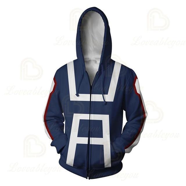 Anime Hoodies Sweatshirts Boku No My Hero Academia Cosplay Costumes Bakugou Todoroki Shoto Spring/Autumn Coat 4