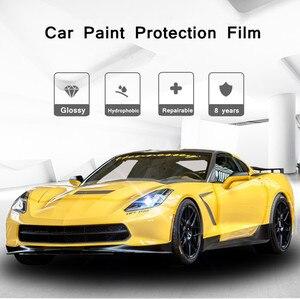 Image 4 - PPF SUNICE מכונית סרט הגנת צבע גוף רכב מבריק Invisible בד מגן סרט 100% שקיפות TPU אנטי צהוב חומר