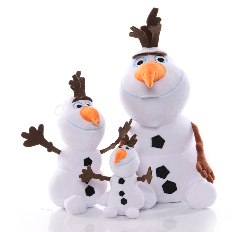 1pcs15-40cm Cartoon Olaf Plush Toys Doll Princess Elsa Anna Snowman Olaf Plush Toy Soft Stuffed For Kids Christmas Gifts