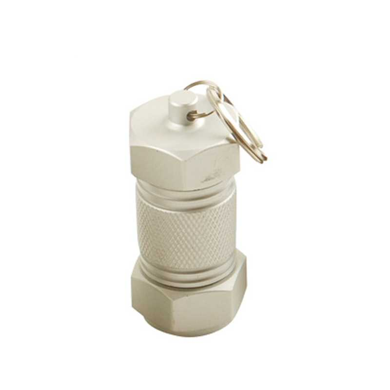1PCs Mini Armazenamento Medicina Pílula Garrafa Chaveiro Caixa de Alumínio À Prova D' Água Caso Caixa Titular Recipiente Divisores Medicina De Emergência