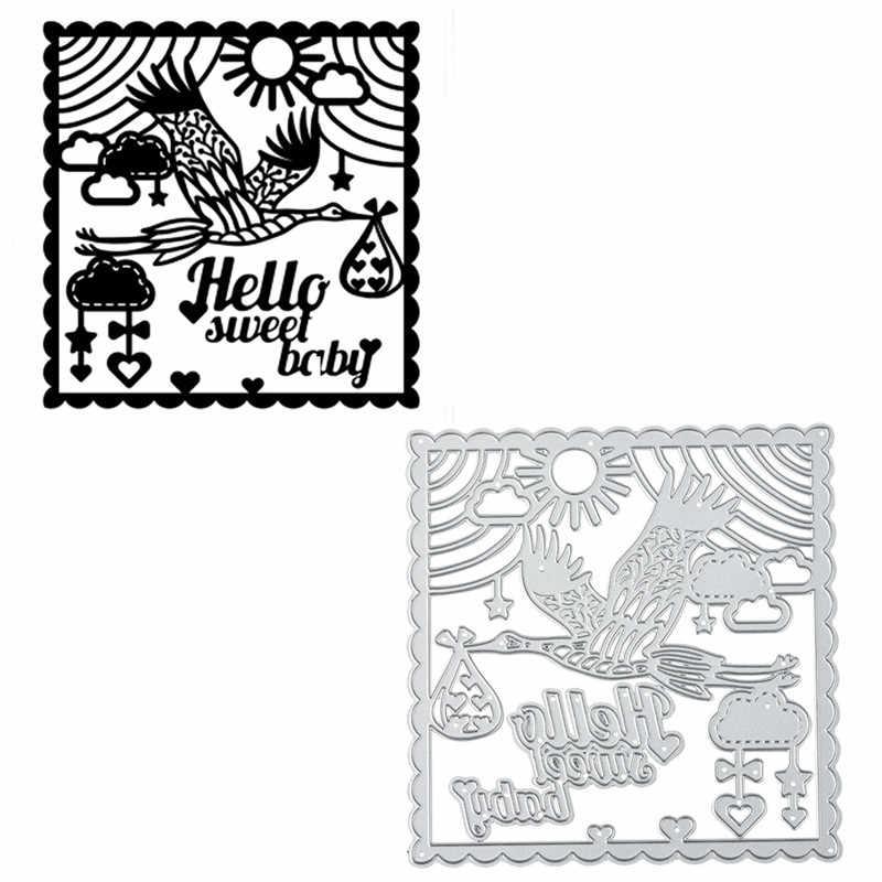 InLoveArts Sweet Baby muere fondo de Metal troqueles de corte para hacer tarjetas Scrapbooking corte de grabado artesanal marco muere Navidad