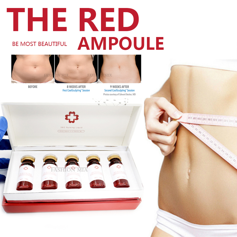 The Red Ampoule Solution Hyaluronic Acid Fat Dissolve Lipolysis Weight Loss Liquid Nursing for Face Body Slimming Hyaluron Pen