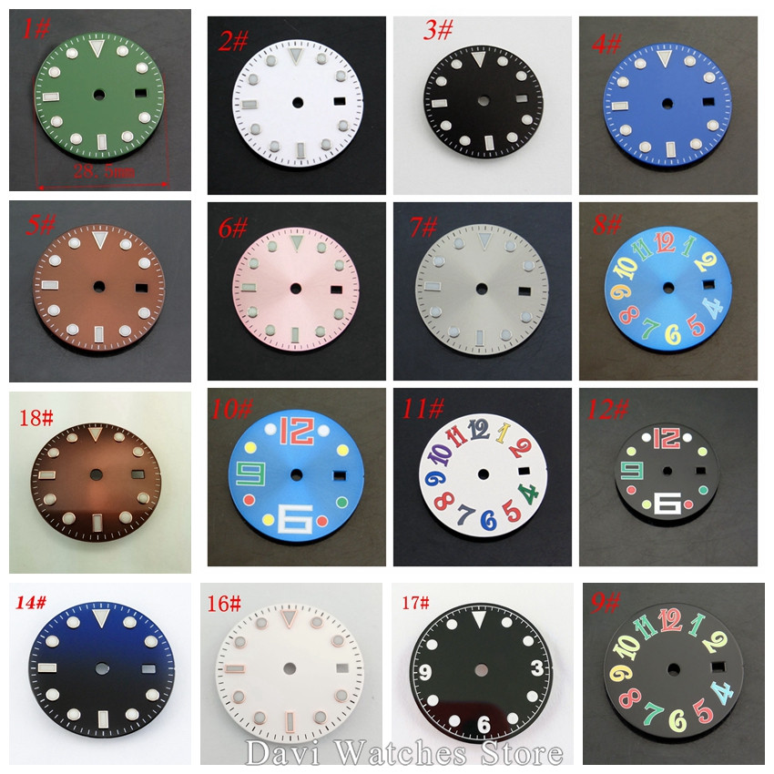 Hot Selling 28.5mm Watch Dial Kit ETA 2836/2824 Mingzhu DG2813,DG3804 Movement Men's Watch Accessories
