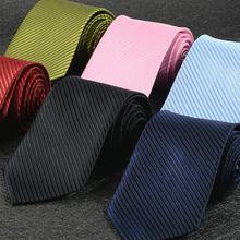 Brytyjski biznes styl Unisex profesjonalny krawat roboczy Marry ciemny krawat w paski mężczyzna formalna odzież czarny satynowy krawat tanie tanio SAFENH Moda Poliester CN (pochodzenie) Dla dorosłych Szyi krawat Stripe Ordinary Unisex Unisex