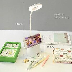 Image 2 - Sharkbang المزدوج الغرض متعددة الوظائف LED مصباح حامل قلم حامل هاتف الإبداعية مطوية حامل قلم الحاويات هدية عيد ميلاد