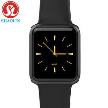 Reloj inteligente Serie B 4 hombres mujeres Bluetooth reloj inteligente para Apple iOS iPhone Xiaomi Android Teléfono Inteligente (botón rojo)