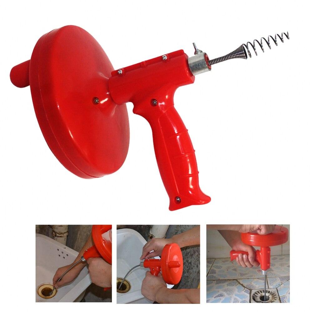 Limpiador de drenaje de 5M, limpiador de fregadero de plomería con Cable tipo serpiente, desagüe para bañera, dragado de tuberías, filtro de alcantarillado, tapón de limpieza para fregadero
