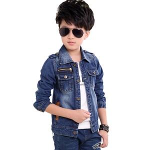 Image 5 - Детская джинсовая куртка, Тренч для мальчиков, джинсовая куртка для девочек, детская одежда, пальто для подростков, повседневная верхняя одежда, ветровка на весну и осень