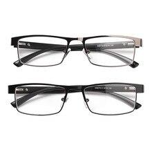 De alta calidad de los hombres de titanio de aleación de gafas de lectura no esférico de lentes de la hipermetropía anteojos recetados + 1,0 ~ + 4
