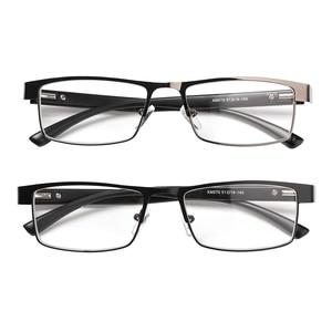 New Fashion Men Hot Titanium Alloy Business Reading Glasses Non Spherical Coated Lenses Retro Hyperopia Prescription Eyeglasses