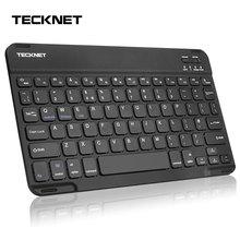 TeckNet Mini Rechargeable Bluetooth Keyboard Wireless Keyboard for iPad Phone Tablet Bluetooth Wireless Keyboard For Android Win