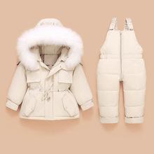 2020 dzieci żakiet kurtka + kombinezon dzieci maluch dziewczynka chłopiec ubrania dół 2 sztuk zima śnieg strój garnitur ciepłe zestawy odzieżowe tanie tanio umsif Moda CN (pochodzenie) Z kapturem zipper 2022 Poliester spandex Unisex Pełna REGULAR Pasuje prawda na wymiar weź swój normalny rozmiar