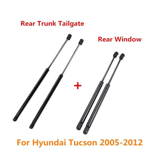 2/4Pc Hinten Stamm Heckklappe Boot Hinten Fenster Glas Gas Spring Shock Strut Streben Unterstützung Bar Stange für Hyundai Tucson 2005 2012