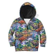 Толстовки с капюшоном love dinosaur футболка 3d принтом Детская