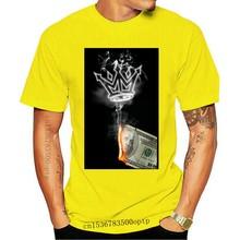 Camiseta de manga corta para quemar el dinero de Mafioso para hombre, ropa blanca para quemar humo, nueva moda