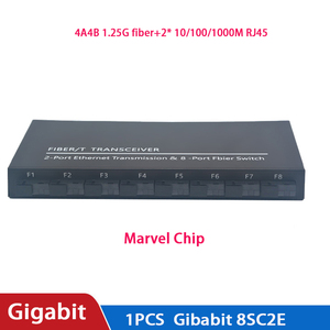 Image 3 - Commutateur à fibres optiques 8 SC 2 1000M RJ45 convertisseur de médias de commutateur Ethernet Gigabit de qualité industrielle 5V3A