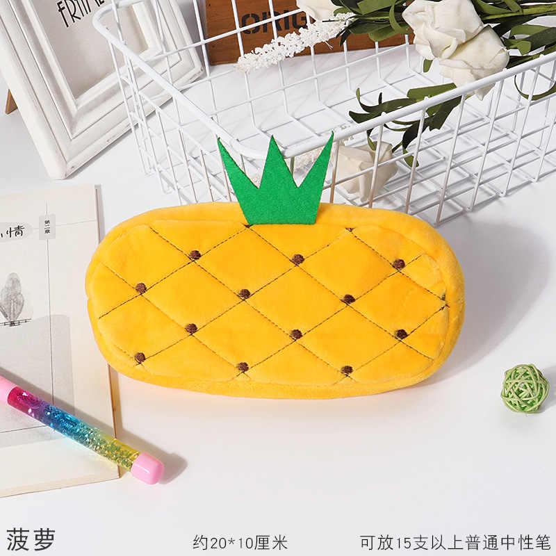 Lindo peluche kawaii lápiz bolsa Animal de alta capacidad PenBag PenCase estudiantes material escolar regalo de cumpleaños lápiz bolsa de almacenamiento
