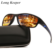 LongKeeper Men's Polarized Sunglasses Brand Designer Male Sun Glasses Vintage Outdoor