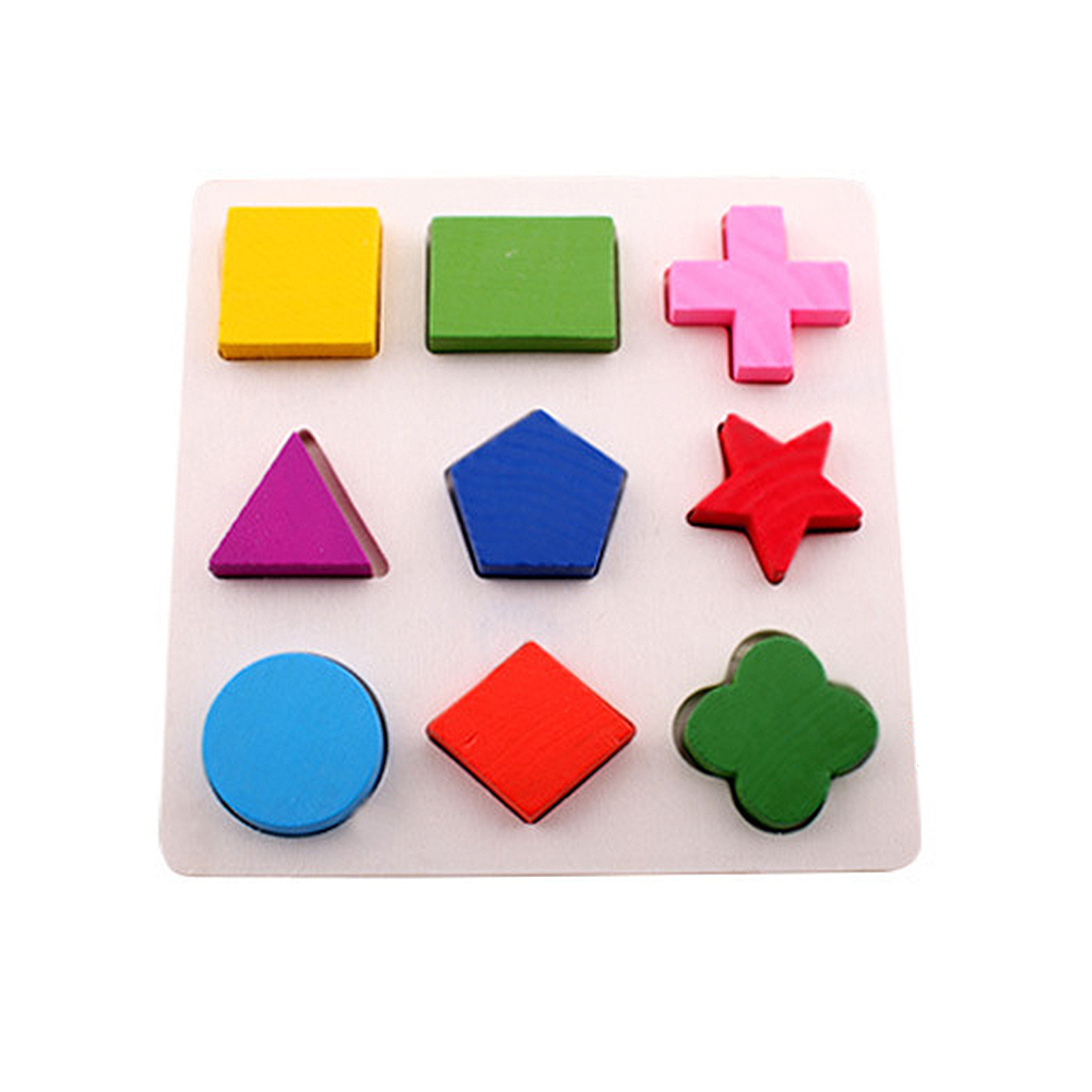 Kids Wooden Cognitive Board Toys Geometry Building Puzzle Toys Early Learning Educational Toy Children DIY Building Blocks Toys