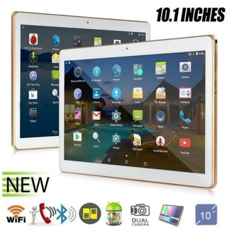 2020 WiFi Call Phone Tablet PC New Ultra-thin 10.1 Inch Octa Core 6G+128G Android 8.1 WiFi Tablet PC Dual SIM Dual Camera