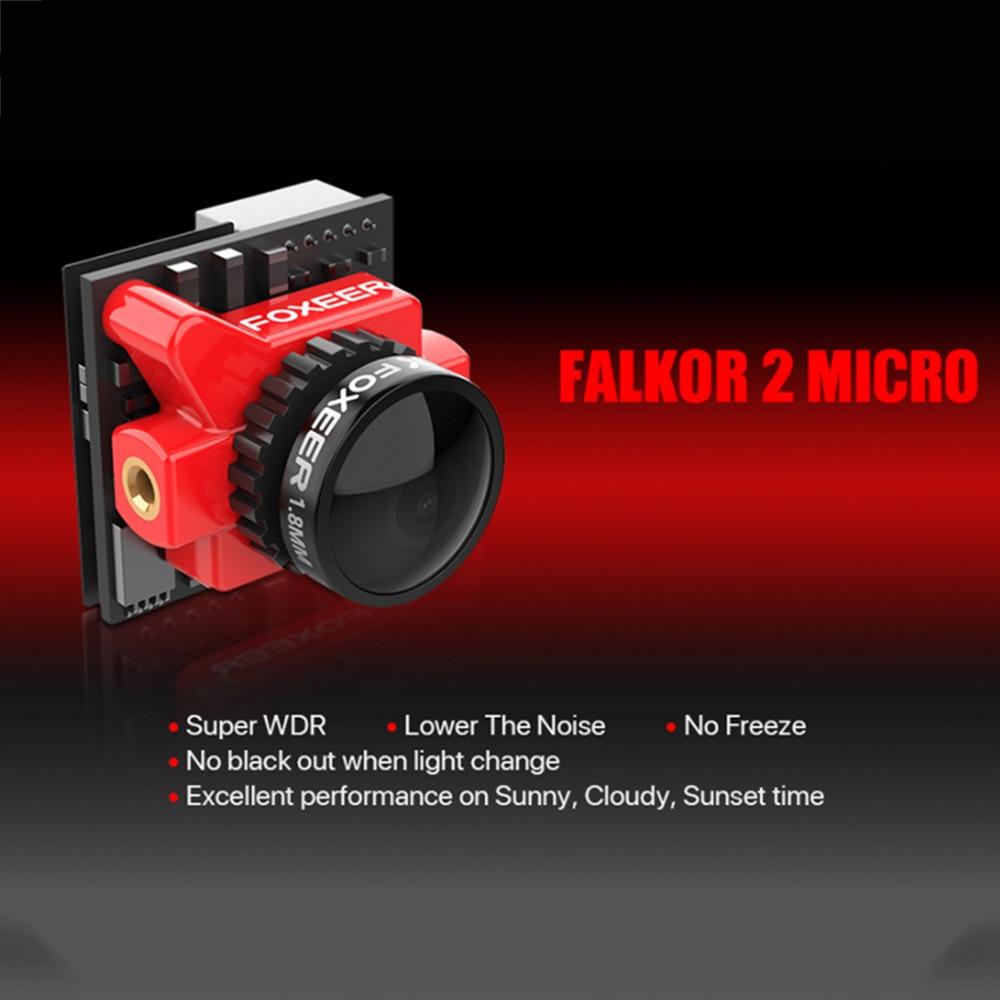 Caméra Foxeer Micro Falkor 2 1200TVL FPV PAL/NTSC 16:9/4:3 GWDR pas de gel