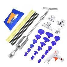 Kit de ferramentas de reparo do carro auto dent extrator dent kit ferramenta remoção martelo deslizante cola varas martelo reverso cola tabs danos causados por granizo