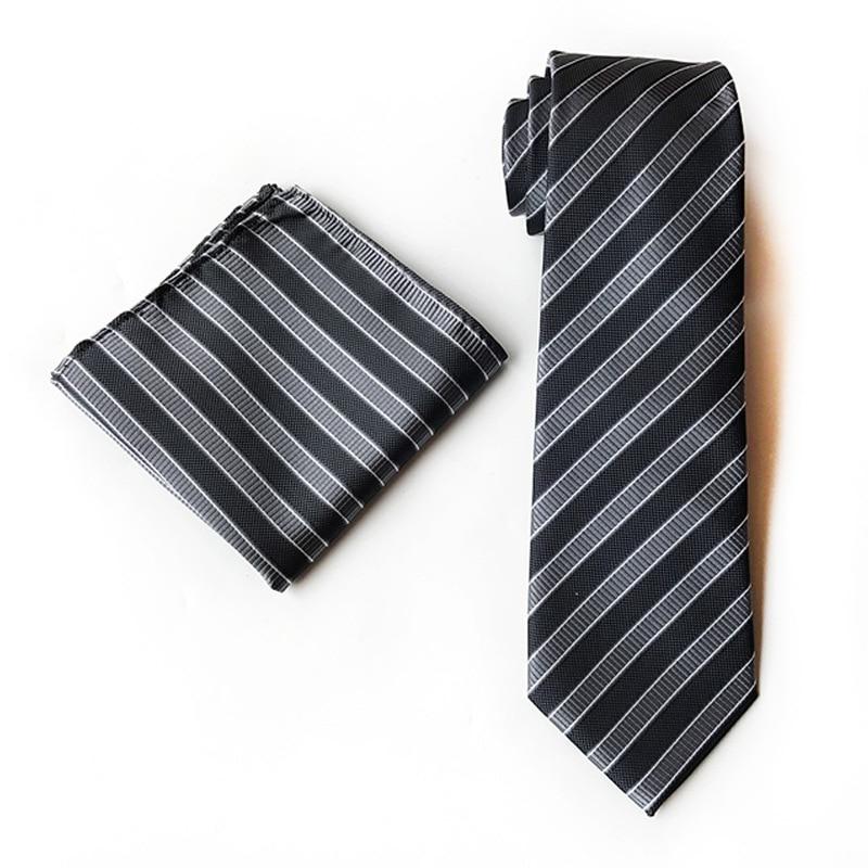 Elegant Design Man Tie With Different Color For Mens Formal Suit Necktie And Pocket Square Set For Men Gifts