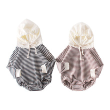 MILANCEL  baby bodysuits striped toddler boys jumpsuits long sleeve baby girls bodysuit