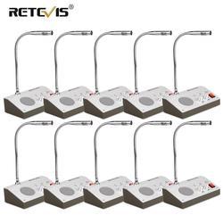 10 Uds. Retevis RT-9908 intercomunicador de doble vía con ventana de 3W micrófono de intercomunicación para Estación de Autobuses de Banco de Hospital