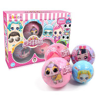 4PCS/set eaki DIY Kids Toy for lols Dolls with Original Box Random doll ball Puzzle Toys for Children birthday christmas gifts