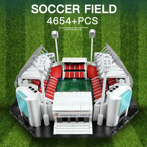 Image 3 - 4654PCS אבני בניין Creative צעצועי ישן Traffords Manchesters כדורגל שדה דגם ילדי לבנים צעצועים חינוכיים יום הולדת מתנות