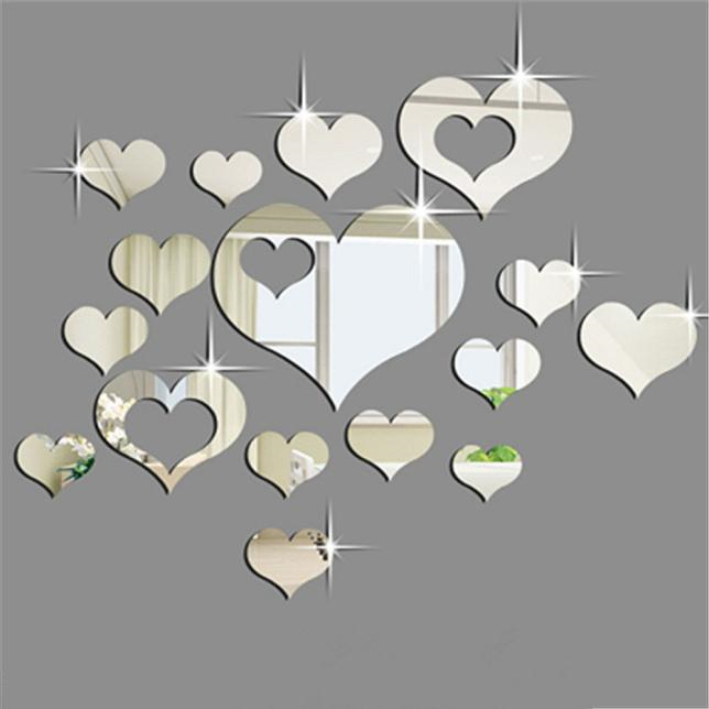 Home 3D Removable Heart Art Decor Wall Stickers Living Room Decoration Creative Comfortable Warmth Quality Fashion Elegant