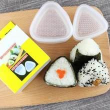 2 Pcs Sushi Onigiri Mold Transparante Bento Decorating Rijst Bal Maker Plastic Driehoekige Vorm Food Grade Keuken Gadgets