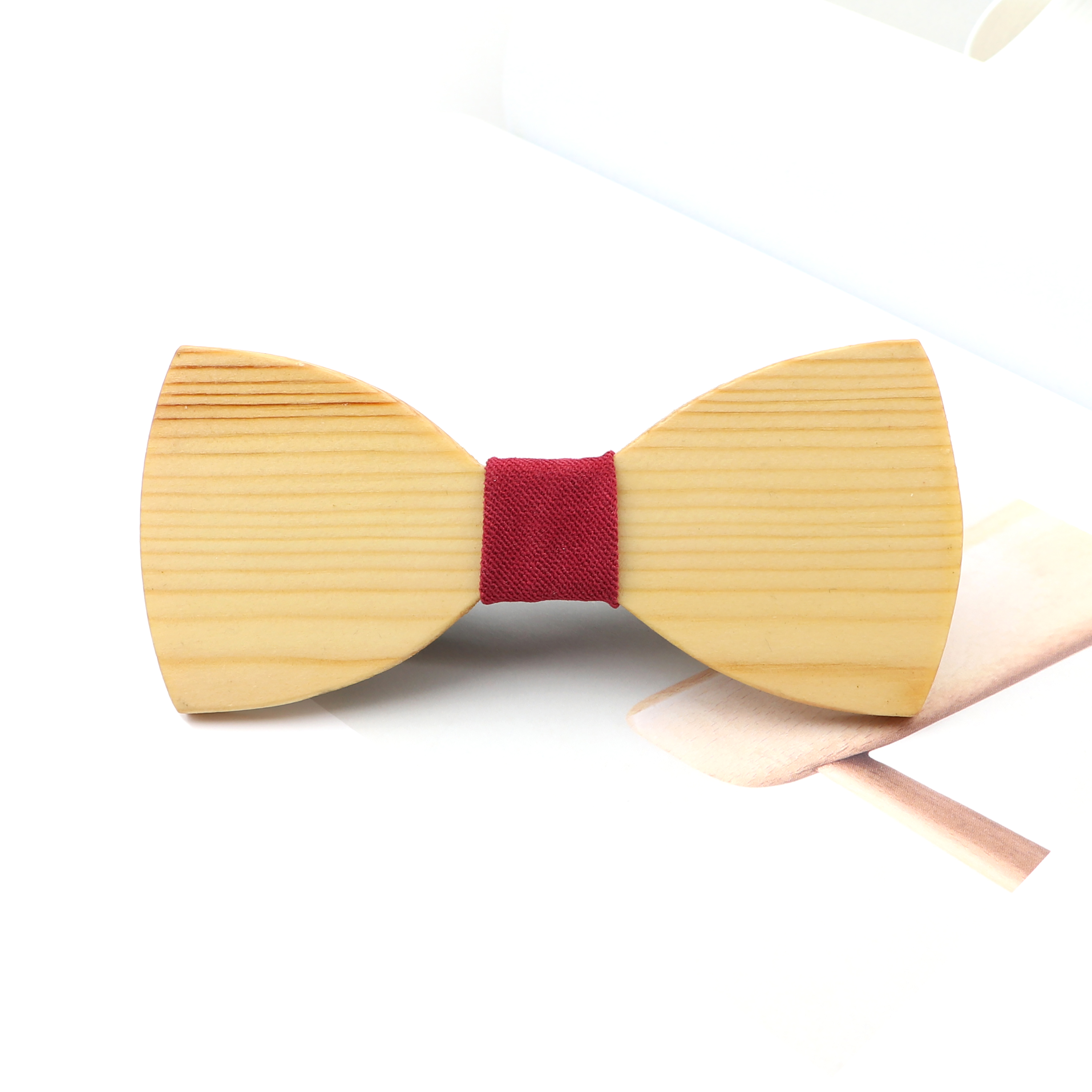 New Solid Wooden Bow Ties For Men Bowtie Classic Daily Party Butterfly Wedding Suit Shirt Bowknots Tie Gift Stylish Accessory