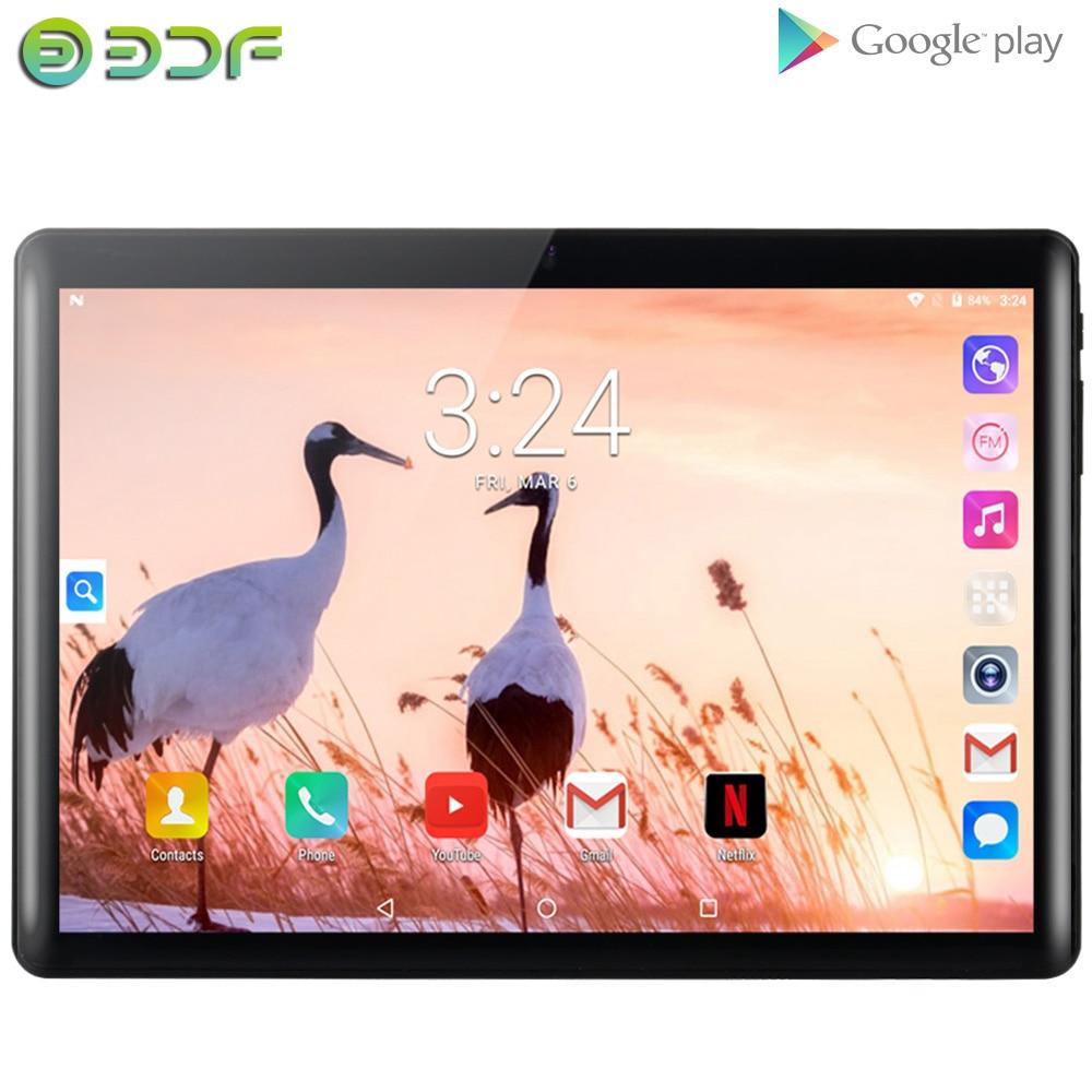 BDF NEW 10.1 Inch Quad Core Android 7.0 Tablet PC Google Play Phone Call 1GB+32GB 3G Dual SIM Card 1280x800 Display GPS Tab