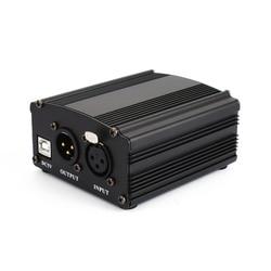 48V USB zasilanie phantom USB2.0 kabel podwójna wtyczka kabel mikrofonowy do mikrofonowego urządzenia do nagrywania pojemnościowego dropship w Akcesoria do mikrofonów od Elektronika użytkowa na
