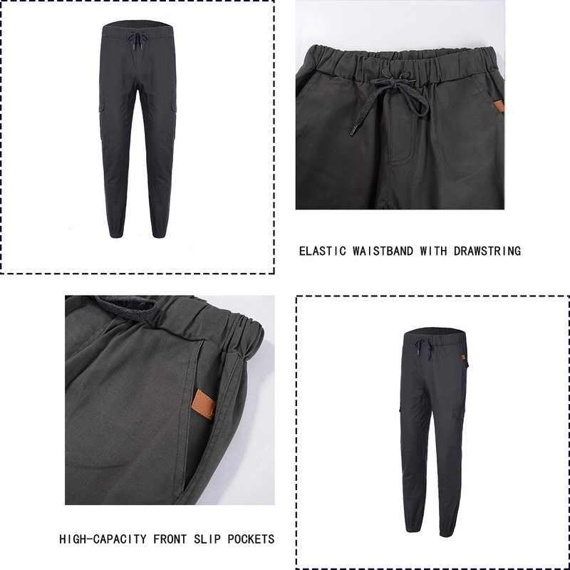 Diهوب 2020 سراويل غير رسمية جديدة للرجال سراويل رياضية حجم كبير للركض سراويل سوداء للياقة البدنية ملابس الجيم جيوب الترفيه Sweatpants
