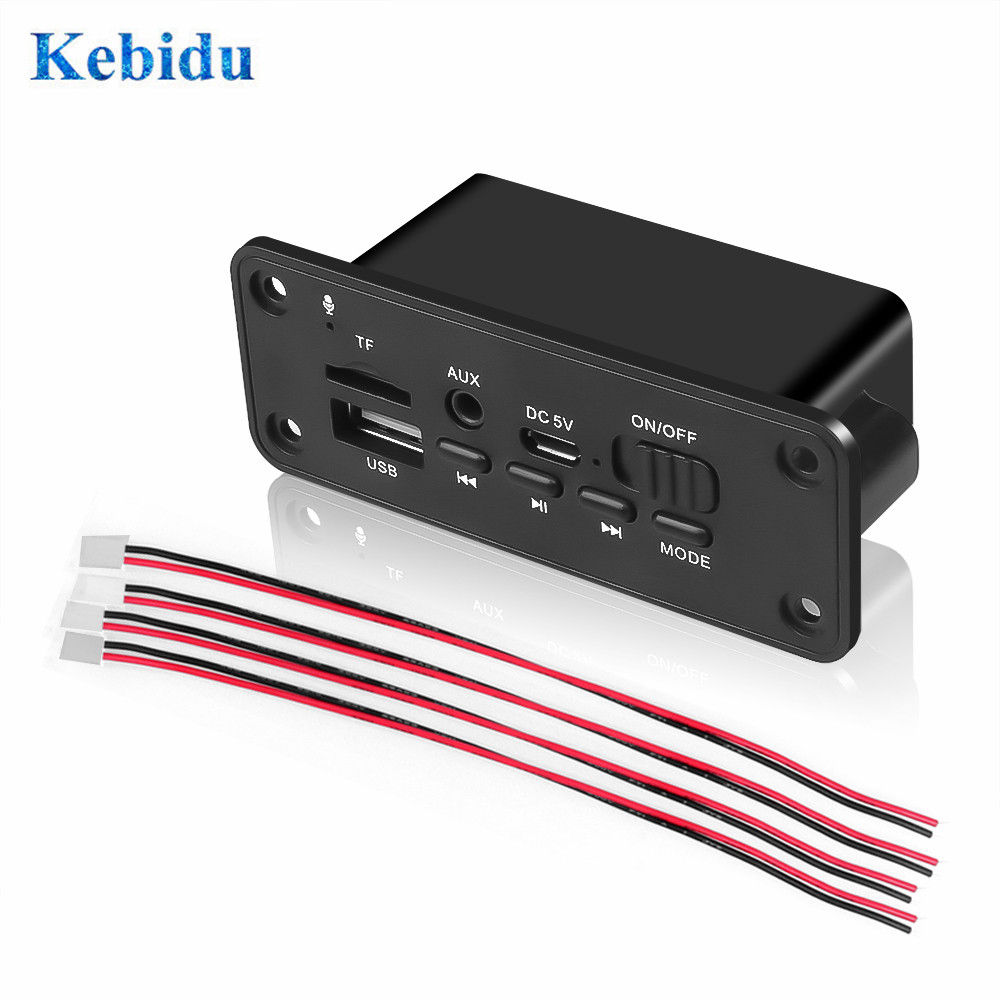 MP3 WMA декодер KEBIDU, плата, аудио модуль 2x3 Вт, усилитель, USB, TF, радио, fm-приемник, Bluetooth, mp3-плеер, DC 5 В, для автомобиля