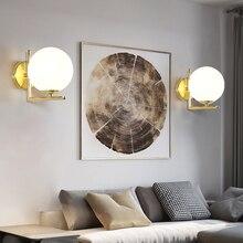 Nordic Postmodern Simple Light Luxury Ball LED Wall Lamp Bedside Bedroom Creative Room Living Stairway mirror light