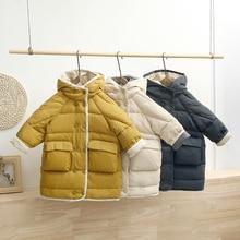 Coats Jacket Girls Outdoor Kids Child HYLKIDHUOSE Snow-Wear Hooded White-Duck-Down Thicken