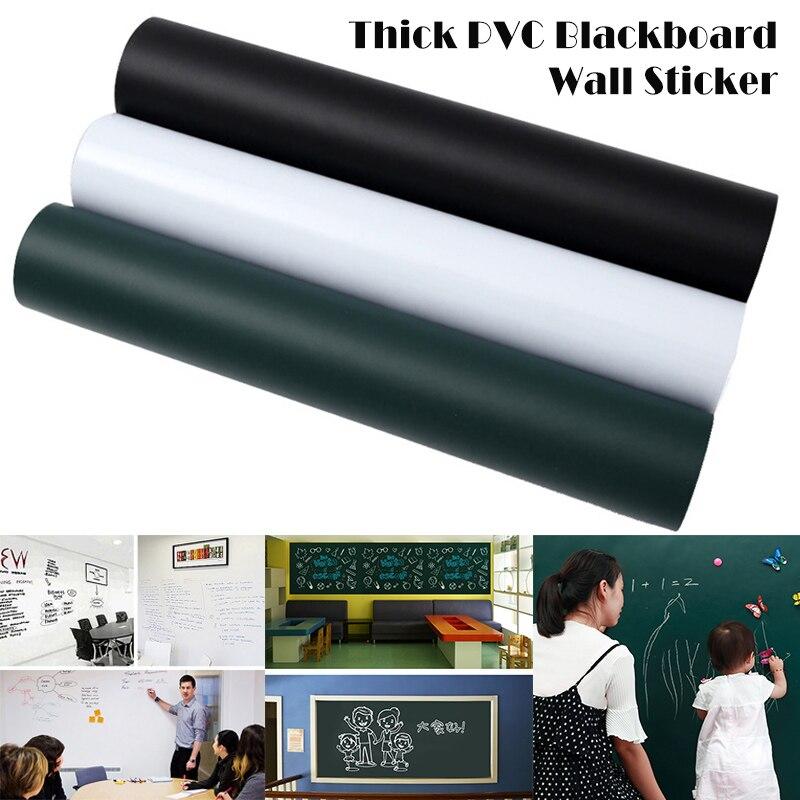 PVC Blackboard Wall Sticker Removable Self Adhesive Chalkboard With Chalks  QJY99