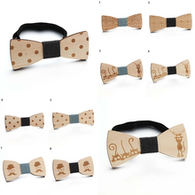 Men Collar Accessories Smooth Beautiful Fashion Bowknot Wooden Tie Wood Bow Ties Fashion Collar Flower Creative Jewelry Hot