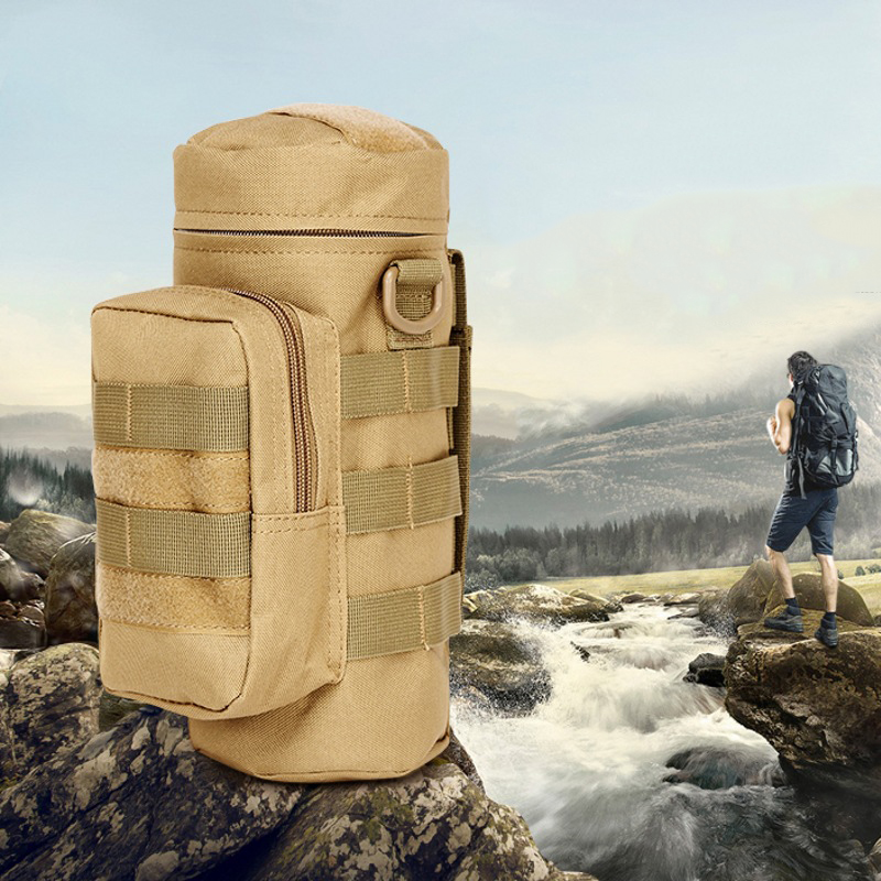 Outdoors Molle Water Bottle Pouch Holder Military Airsoft Tactical Gear Kettle Waist Bag Climbing Hiking Hunting