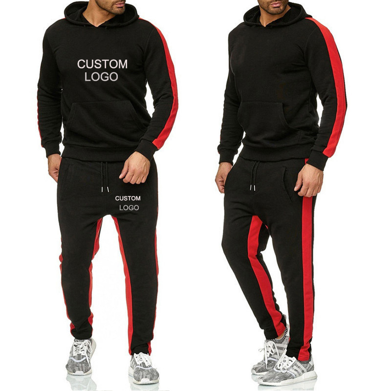 Men Sets Hoodies Sportswear Tops+ Pants 2 Piece Set Tracksuits Jacket Casual Solid Sweatsuit Custom Logo Male Clothes S-6XL