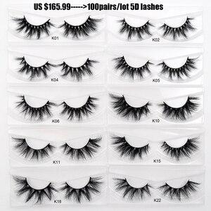 Image 5 - 30/40/100/pairs Visofree Mink Eyelashes with Tray No Box Handmade Natural False Eyelashes Full Strip Lashes Reusable Long lashes