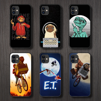 movie E.T. the Extra-Terrestrial Phone Case Cover Hull For iphone 5 5s se 2 6 6s 7 8 12 mini plus X XS XR 11 PRO MAX black Etui image