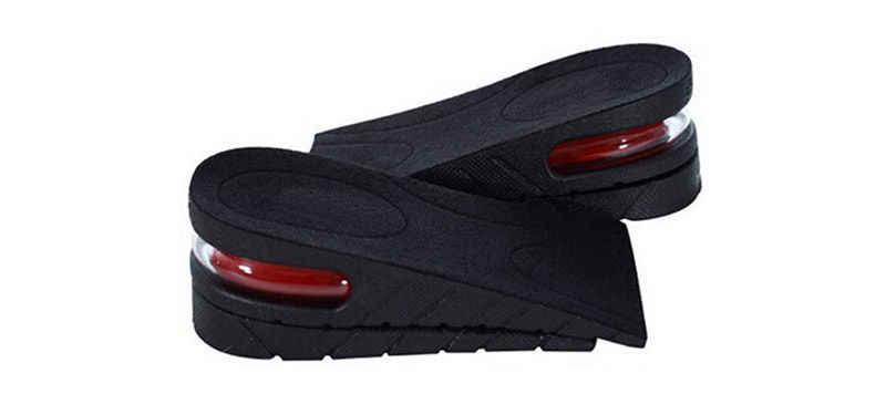 2-Layer 5CM ayarlanabilir ergonomik tasarım hava yastığı görünmez asansör pedleri tabanı boy uzatan ayakkabı astarı erkekler kadınlar için ayakkabı