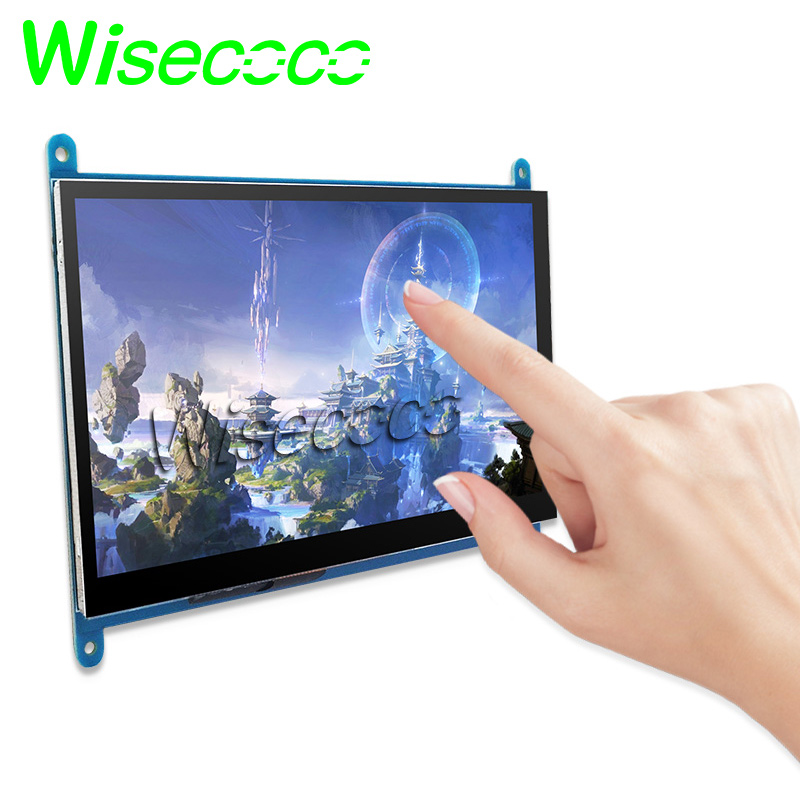 7 inch LCD Monitor for PS4/<font><b>Raspberry</b></font> <font><b>Pi</b></font> with HDMI 1024x600 <font><b>Capacitive</b></font> Touch Screen LCD <font><b>Display</b></font> image