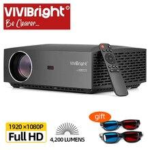 מכירה VIVIBright אמיתי מלא HD 1080P מקרן F30UP, 4K אנדרואיד WIFI Bluetooth,3D סרט וידאו מקרן, טלוויזיה מקל, PS4, HDMI עבור